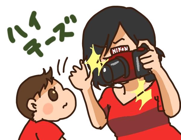 子ども一眼レフ撮影